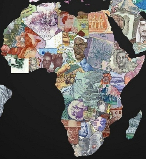 Currency World Maps. Africa
