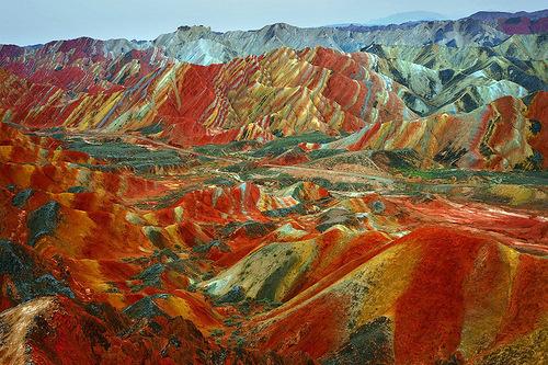 Danxia mountains in China