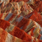 Formed from a reddish sandstone, Danxia – beautiful mountains in China