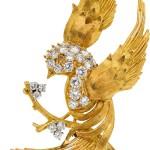 Diamond, Colored Diamond, Gold Brooch