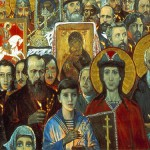 I. Glazunov. Eternal Russia, fragment