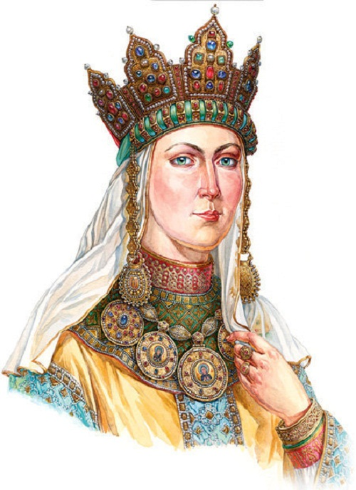 Ancient jewelry headwear of Russian women