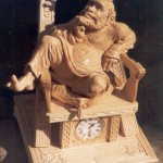 Just a king. Wood sculpture from 'Hours of Russian soul' collection by Yuri Firsanov