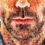 Hugh Laurie for Monet magazine. A mosaic portrait of Hugh Laurie (Dr.House) made out of pills for the cover of MONET Magazine (Brazil)