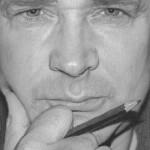 Man's portrait. Hyperrealistic pencil drawing by American self-taught artist Randy Hann