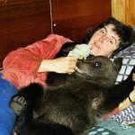 Just having a rest Velga and Ilzit, the bear