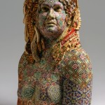 Rosemarie. 2008. Recycled wood, pigmented grout, sculpture by American artist Michael Ferris Jr