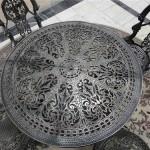 Closeup of Kasli casting metal furniture