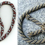 Kolodochka - tightly-woven collar of beads or chain in the snake shape.