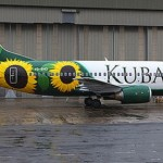 Kuban, Russia airplane. Aircraft graffiti