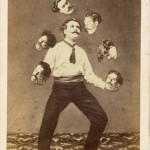 'Man juggling his own head' by de Torbechet, Allain & C., ca. 1880, Saint Thomas D'aquin, albumen silver print. collection of Christophe Goeury