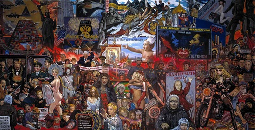 Glazunov. Market of our democracy. 1999