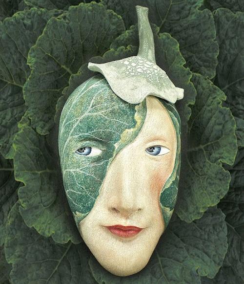 Mask by Californian artist Peggy Bjerkan