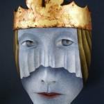 A king. Mask by Californian artist Peggy Bjerkan