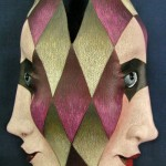 Double-faced Mask by Californian artist Peggy Bjerkan