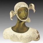 Sculptural mask by Californian artist Peggy Bjerkan