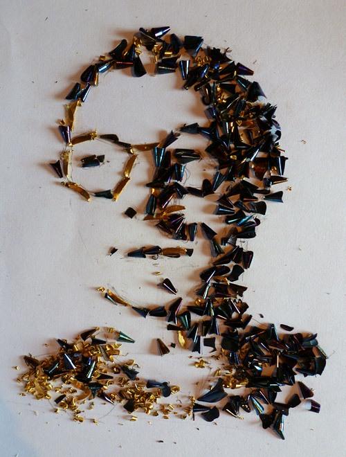 Metal chips artworks by Vladimir Kargin