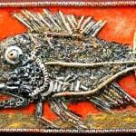 Metal chips art by Russian artist Vladimir Kargin