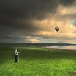 Hot-air-balloon. Landscapes by photographer Nikolay Titov