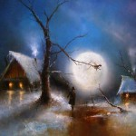 Walking in Moonlight, painting by Russian artist Igor Medvedev