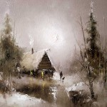 Before the dawn. Moonlight sonata in painting by Russian artist Igor Medvedev