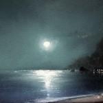 Sky light. Moonlight sonata in painting by Russian artist Igor Medvedev