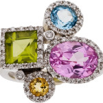 Multi-Stone, Diamond, White Gold Ring