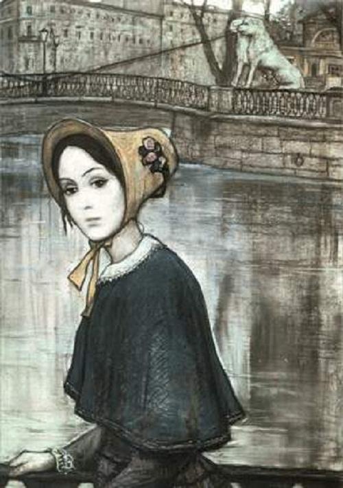 Nasten'ka. Illustration for F. Dostoyevsky's short story 'White Nights'. 1970