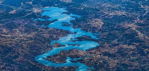 Odeleite River in Portugal, in Portuguese - Ribeira de Odeleite