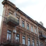 Odessa. House with one wall only (optical illusion)