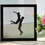 A moment of joy. Paper silhouette by Dmitry and Julia