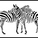 Zebras. Paper silhouettes by Kiev based artists Dmitry and Julia