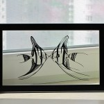 Fish. Paper silhouette, artists Dmitry and Julia
