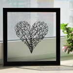Heart shaped tree. Paper silhouette by Dmitry and Julia