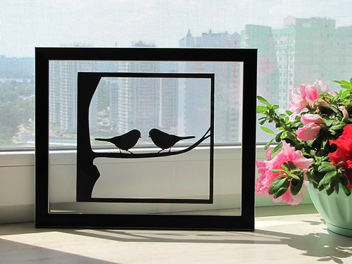 Paper silhouettes by Ukrainian artists Dmitry and Julia