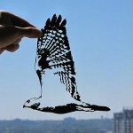 A bird. Delicate paper cut by Dmitry and Julia