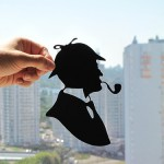 Sherlock Holmes. Paper silhouette by artists Dmitry and Julia