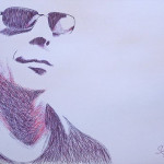 Bruce Willis. 2010. Pen drawing by creative alliance 'Save L' (Sergey and Vyacheslav Savelyevs)