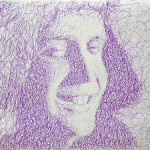 Portrait. Pen drawing by creative alliance 'Save L' (brothers Savelyevs)