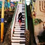 Piano Stair, Valparaíso, Chile