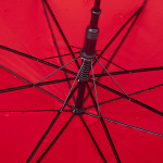 Closeup Red umbrella. Work by Canadian photographer Andre Villeneuve