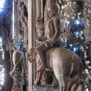 Sculpture inside the temple