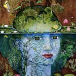 Still a tadpole already a frog, painting by Irene Hardwicke Olivieri