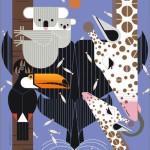 Giraffes and koala
