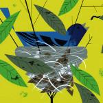 Nest. The Golden Book of Biology by American modernist artist Charley Harper