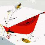 Illustration from The Golden Book of Biology by American modernist artist Charley Harper