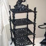 Artful iron shelf
