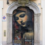 The graffiti door, painted by a very talented artist El Mac from the United States