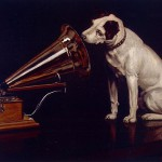 "The original version of the painting was completed on February 11, 1899 and was called ""Dog looking at and listening to the gramophone""."
