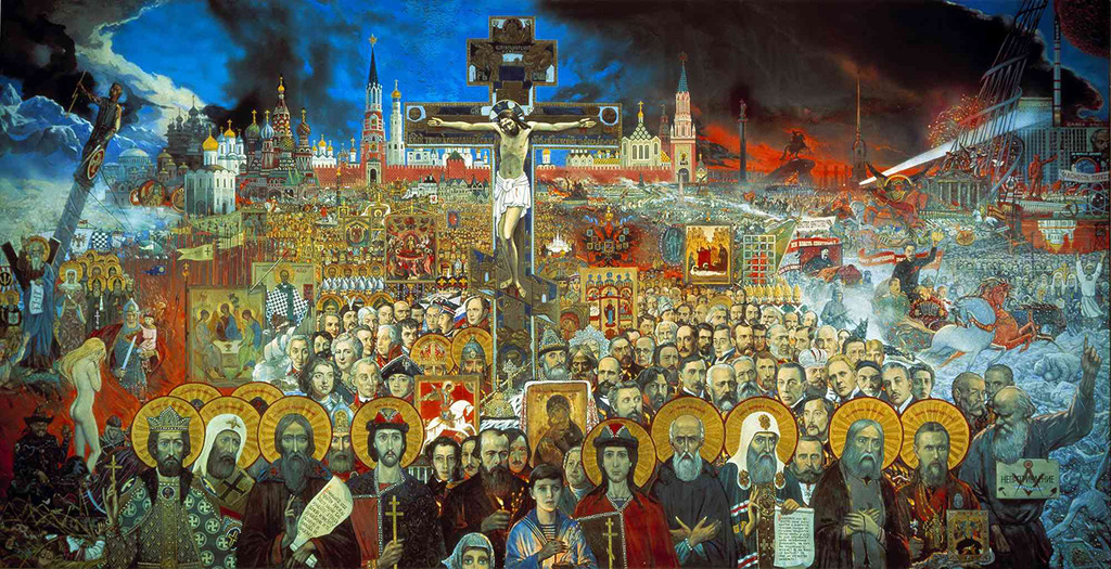 Artist historian and philosopher Ilya Glazunov